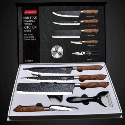 Komplet kuhinjskih nožev iz nerjavečega jekla Jerome