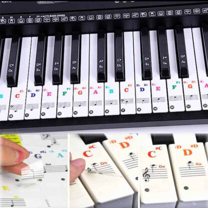 Nalepke za označevanje klavirskih tipk PianoCoach
