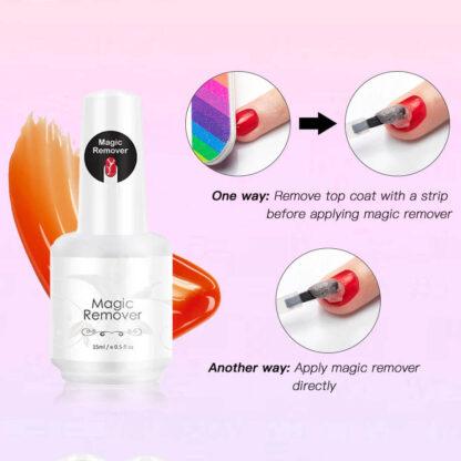 Odstranjevalec gel laka za nohte Magic Remover