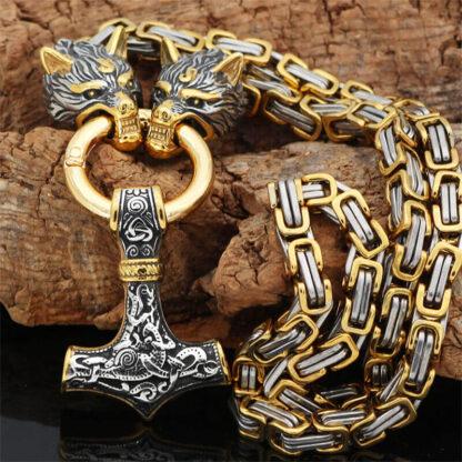 Moška vikinška ogrlica Ostmen