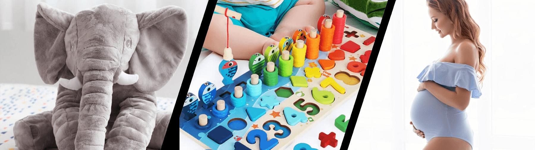 Totul pentru femeile însărcinate, mame și copiii. Jucării pentru copii, elefanți de pluș, jucării educative, montessori