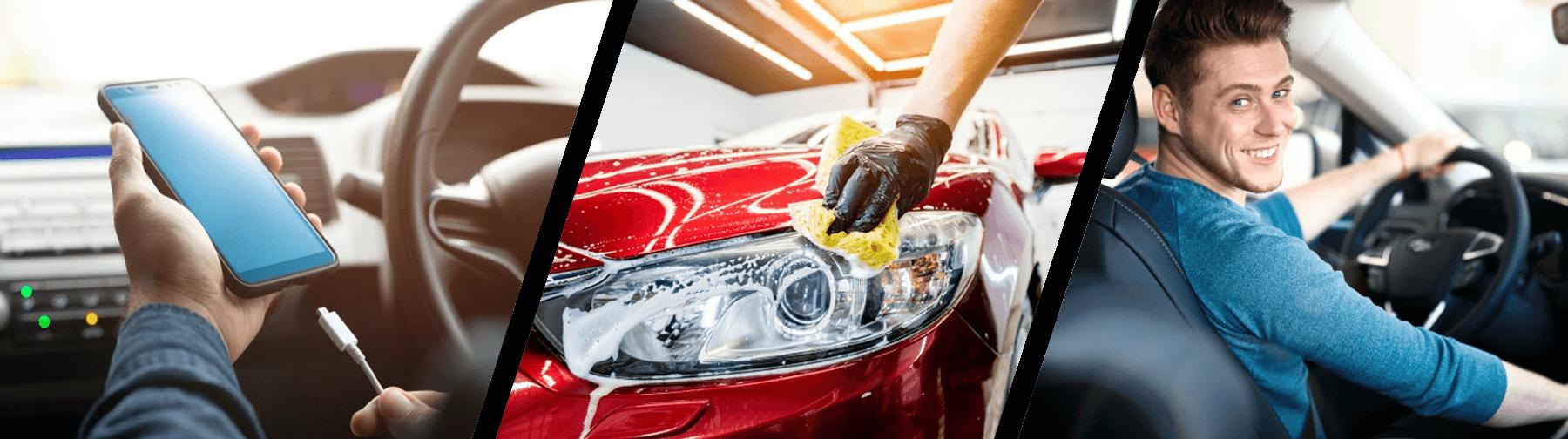 Accesorii pentru curățarea exterioară și interioară a mașinii, reparații auto, accesorii pentru un confort sporit la volanul mașinii sau a motocicletei